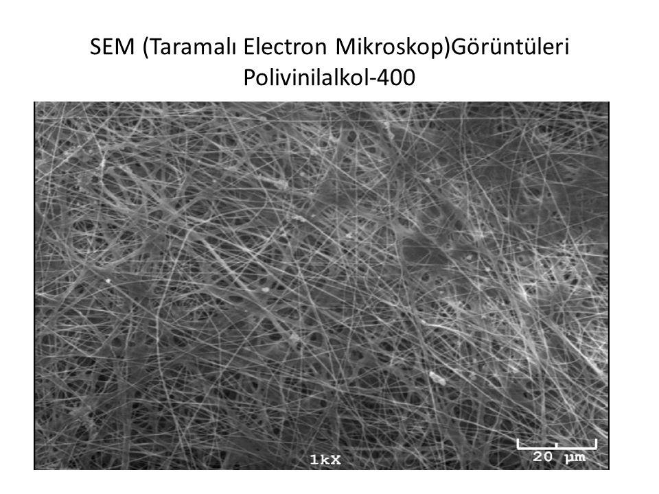 SEM (Taramalı Electron Mikroskop)Görüntüleri Polivinilalkol-400