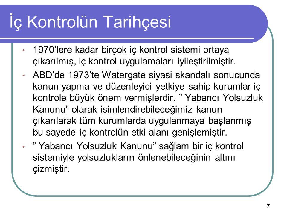 İç Kontrolün Tarihçesi