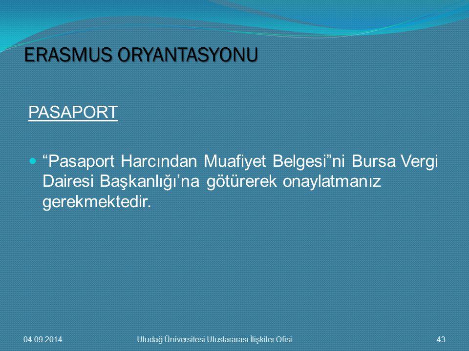 ERASMUS ORYANTASYONU PASAPORT