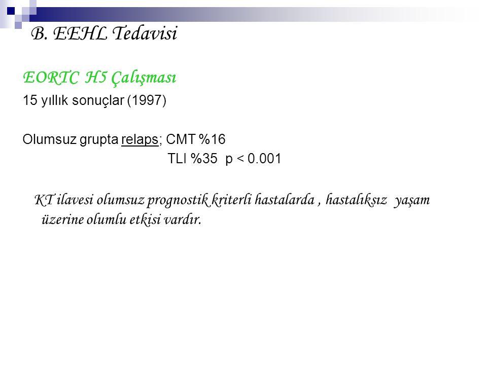 B. EEHL Tedavisi EORTC H5 Çalışması 15 yıllık sonuçlar (1997)