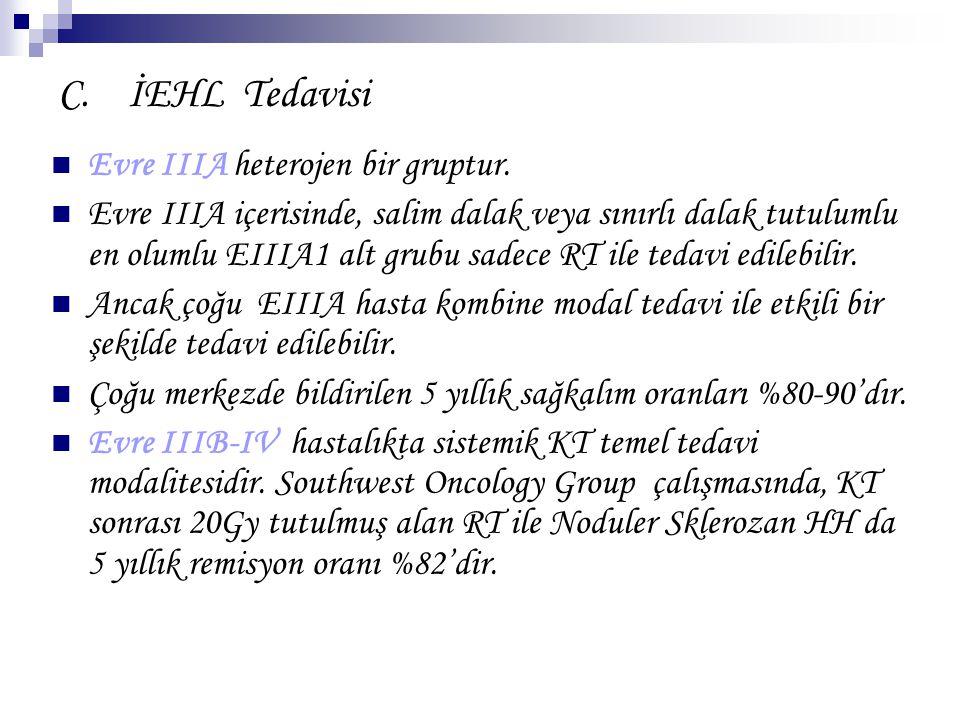 C. İEHL Tedavisi Evre IIIA heterojen bir gruptur.