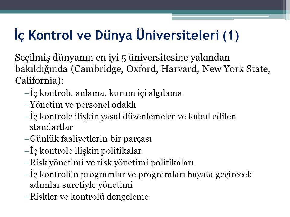 İç Kontrol ve Dünya Üniversiteleri (1)