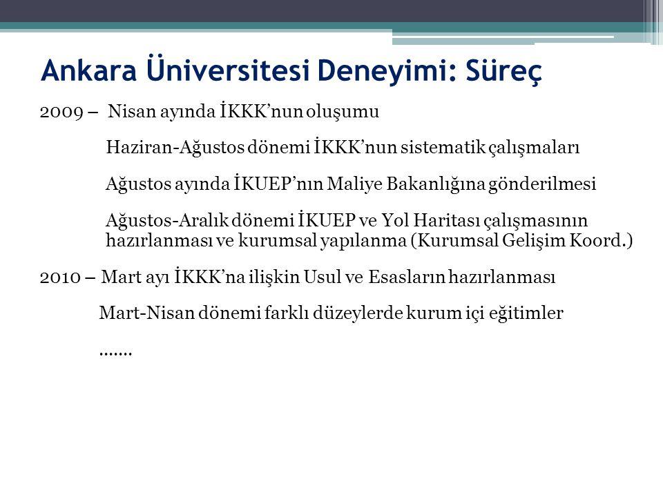 Ankara Üniversitesi Deneyimi: Süreç