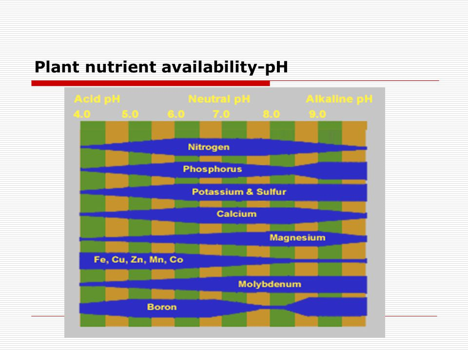 Plant nutrient availability-pH