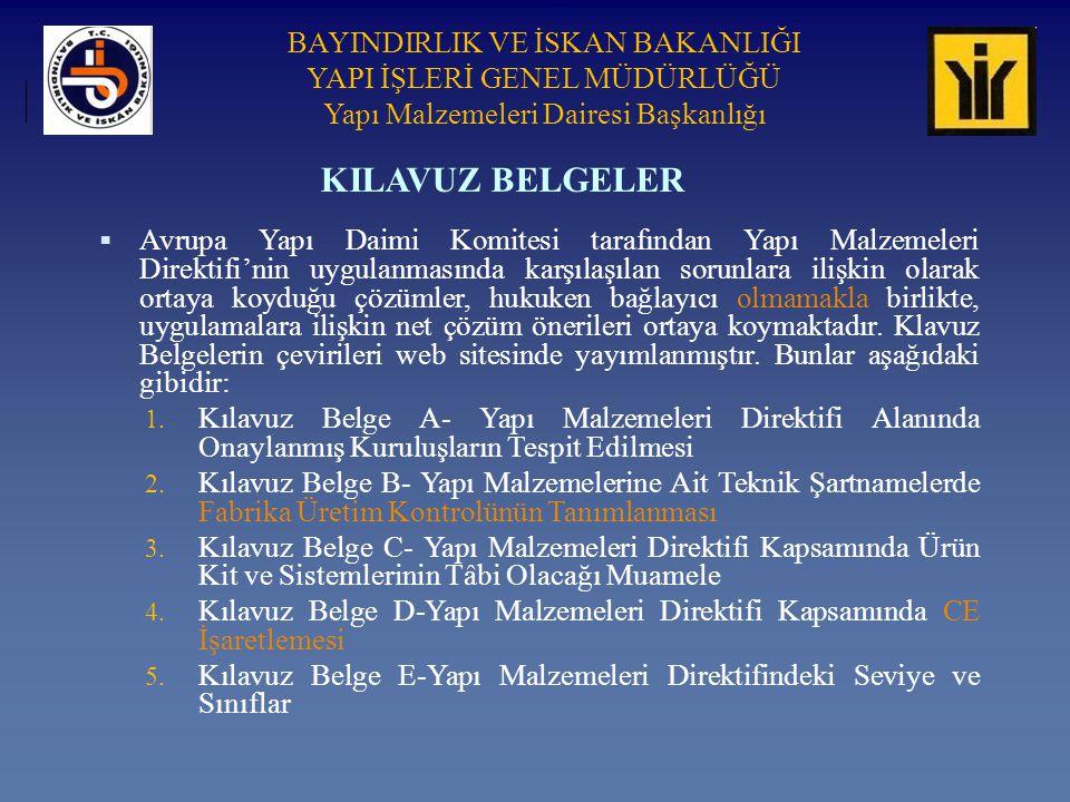KILAVUZ BELGELER
