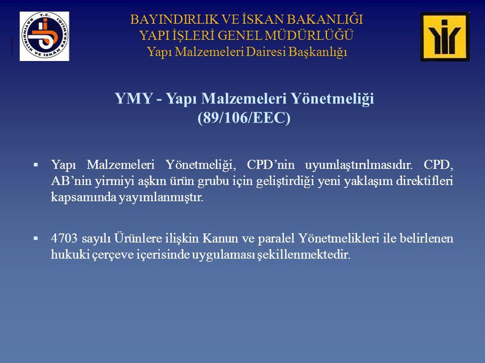 YMY - Yapı Malzemeleri Yönetmeliği (89/106/EEC)