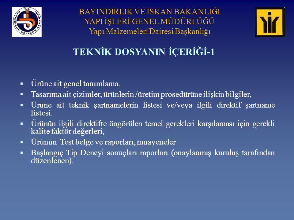 TEKNİK DOSYANIN İÇERİĞİ-1