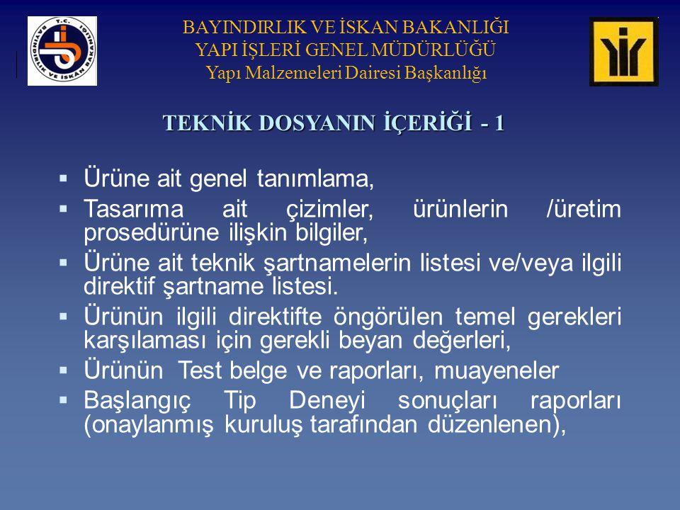 TEKNİK DOSYANIN İÇERİĞİ - 1