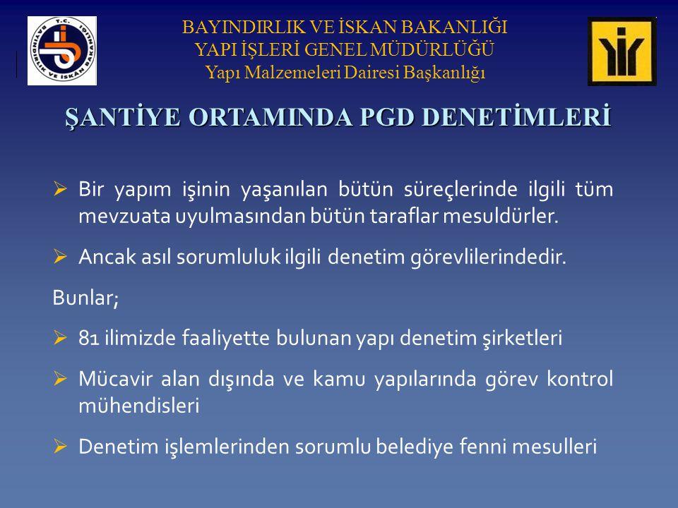 ŞANTİYE ORTAMINDA PGD DENETİMLERİ
