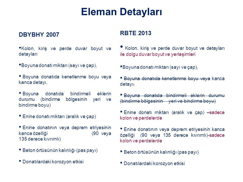 Eleman Detayları RBTE 2013 DBYBHY 2007