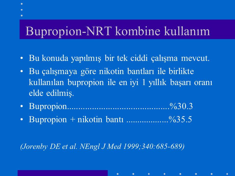 Bupropion-NRT kombine kullanım