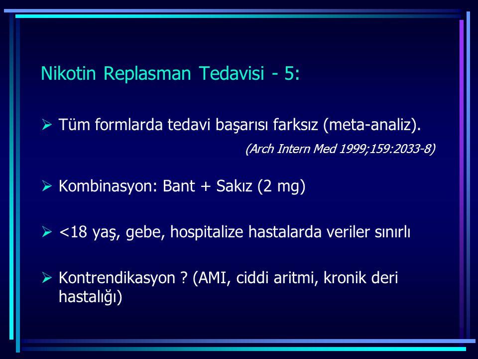 Nikotin Replasman Tedavisi - 5: