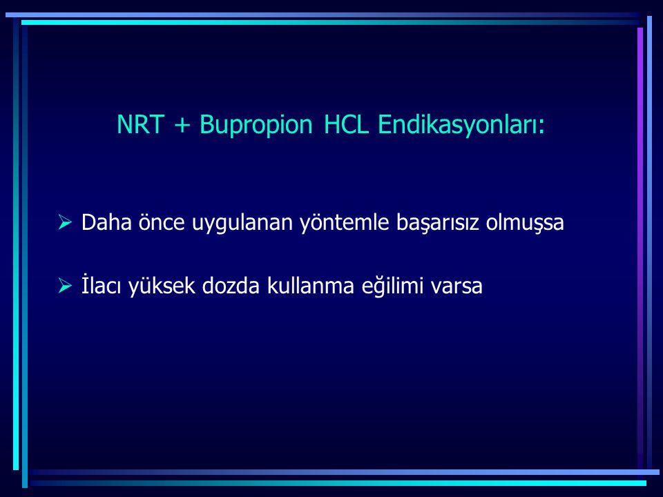 NRT + Bupropion HCL Endikasyonları: