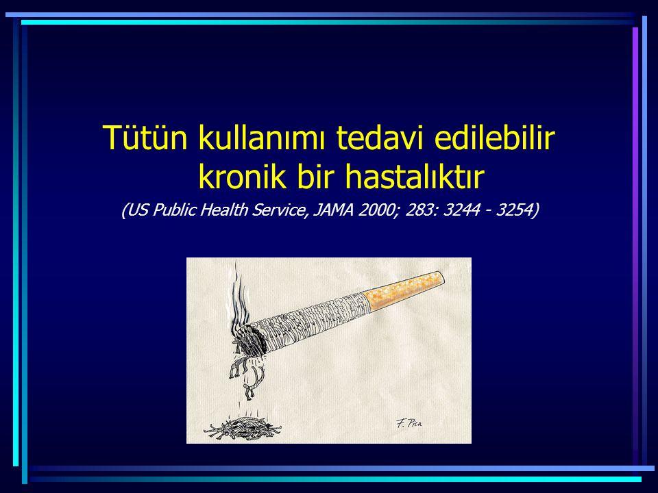 Tütün kullanımı tedavi edilebilir kronik bir hastalıktır