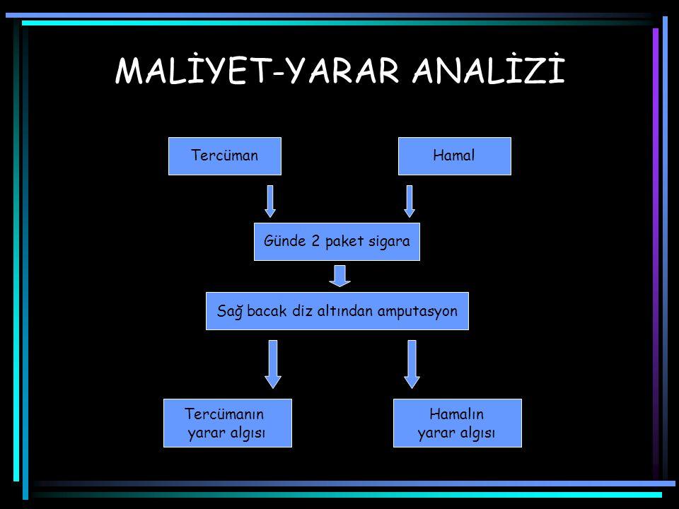 MALİYET-YARAR ANALİZİ