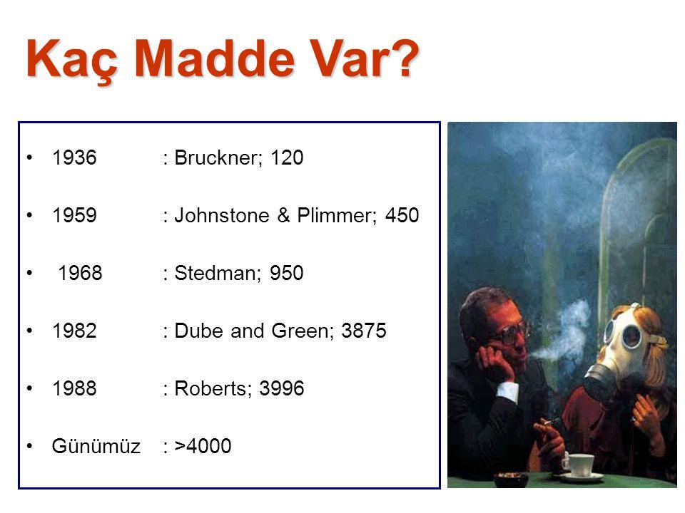 Kaç Madde Var 1936 : Bruckner; 120 1959 : Johnstone & Plimmer; 450