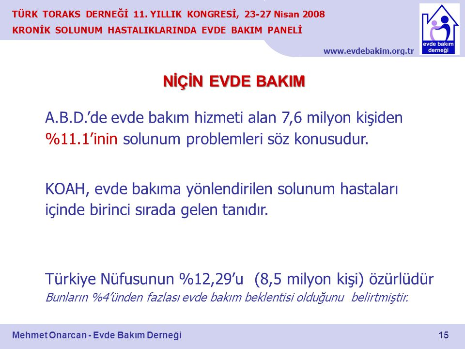 Türkiye Nüfusunun %12,29'u (8,5 milyon kişi) özürlüdür