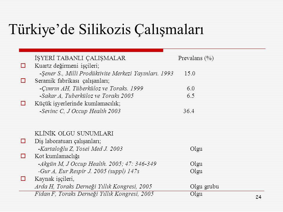 Türkiye'de Silikozis Çalışmaları