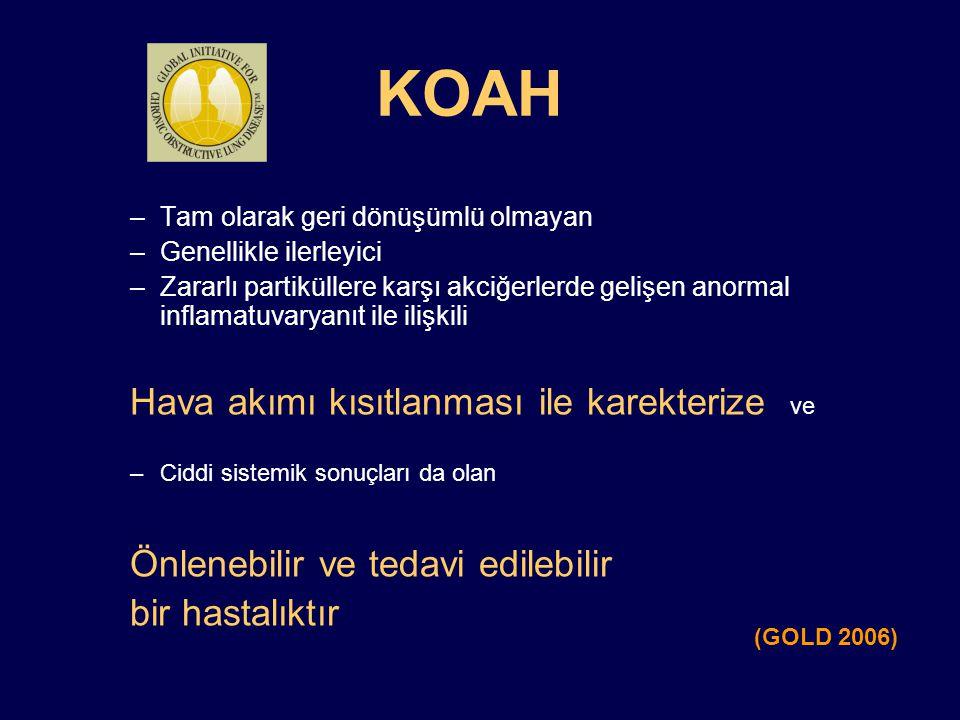 KOAH Hava akımı kısıtlanması ile karekterize ve