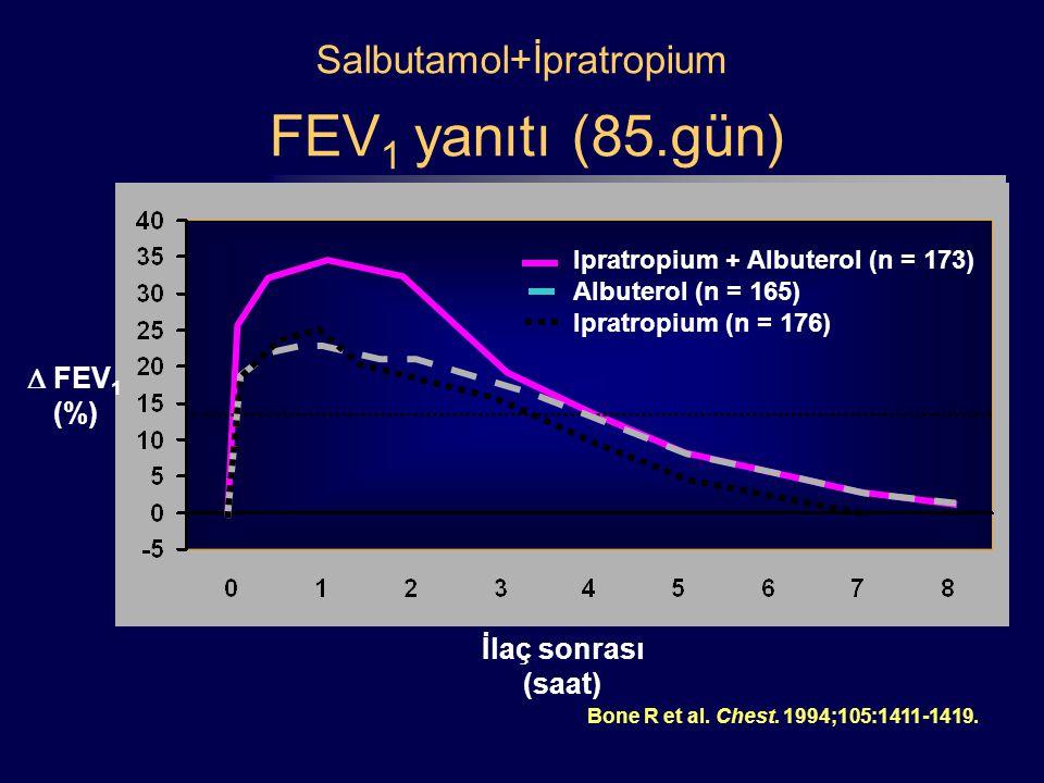 Salbutamol+İpratropium FEV1 yanıtı (85.gün)