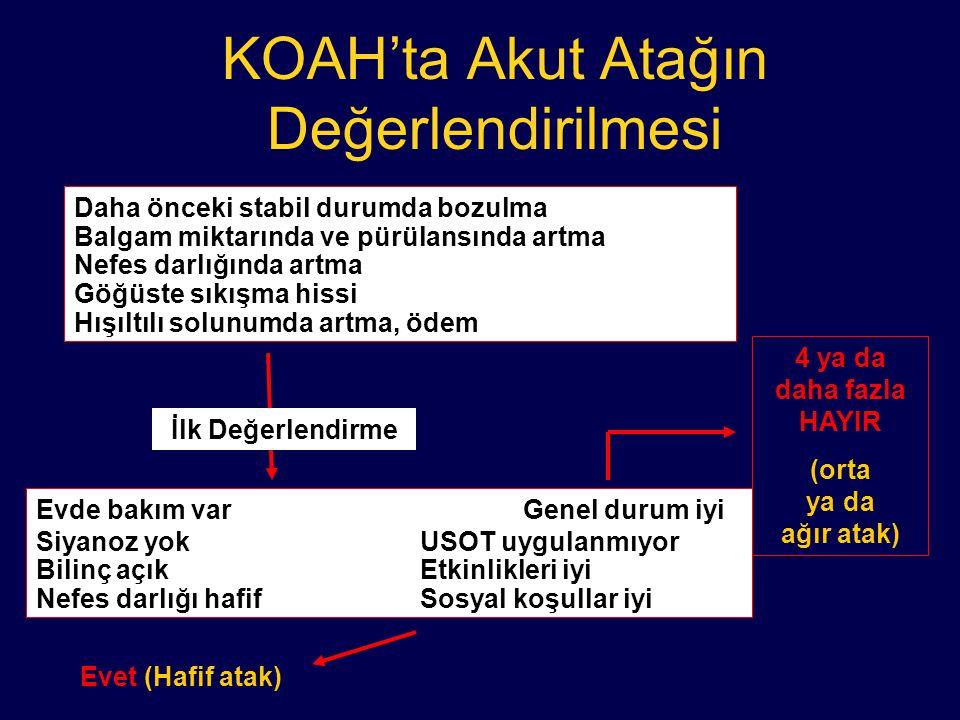 KOAH'ta Akut Atağın Değerlendirilmesi
