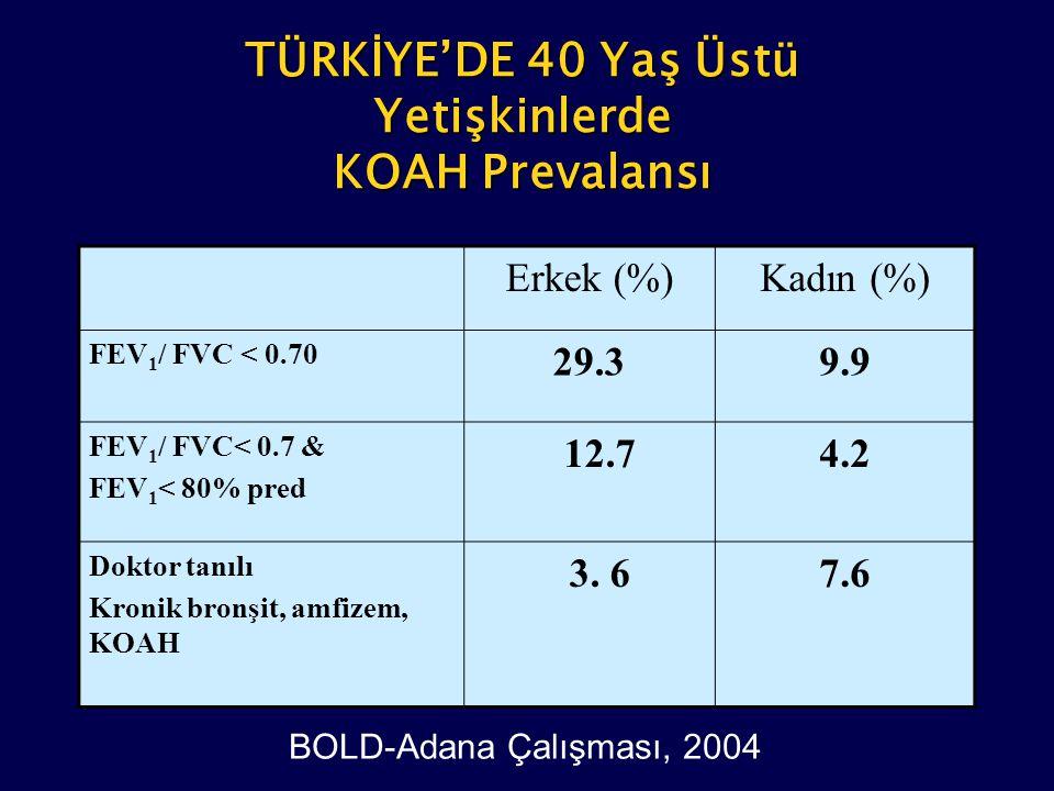 TÜRKİYE'DE 40 Yaş Üstü Yetişkinlerde