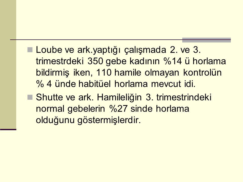 Loube ve ark. yaptığı çalışmada 2. ve 3