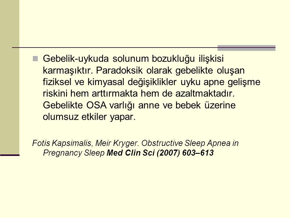 Gebelik-uykuda solunum bozukluğu ilişkisi karmaşıktır