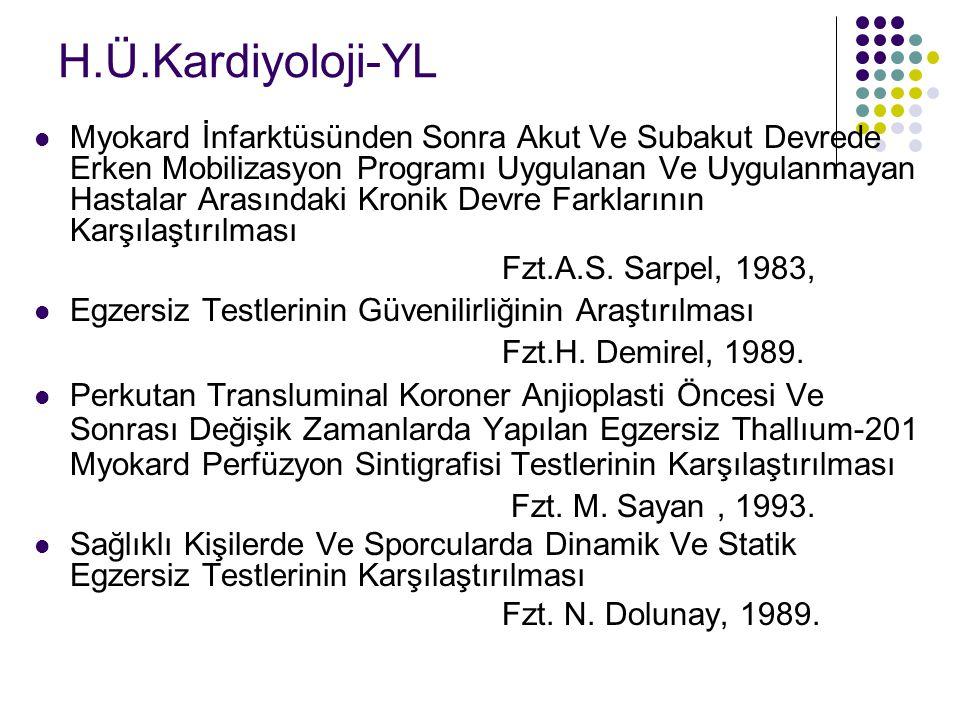H.Ü.Kardiyoloji-YL