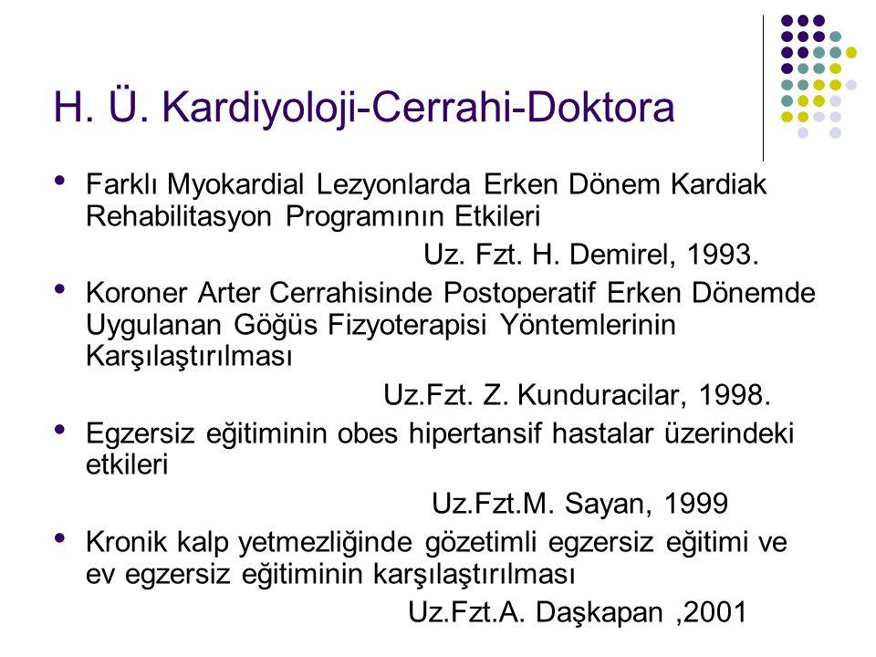 H. Ü. Kardiyoloji-Cerrahi-Doktora