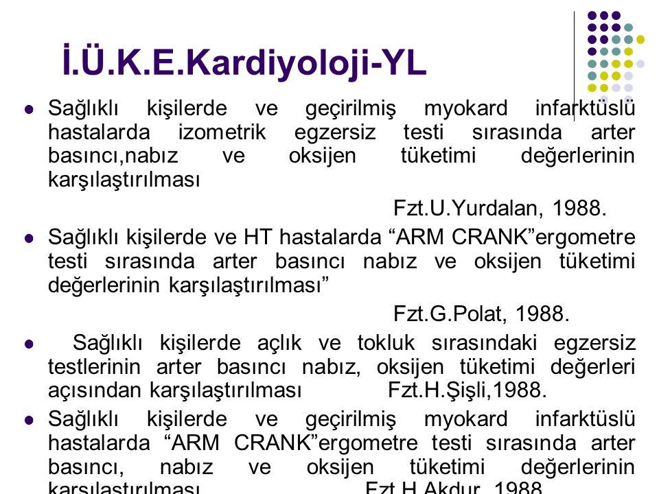 İ.Ü.K.E.Kardiyoloji-YL