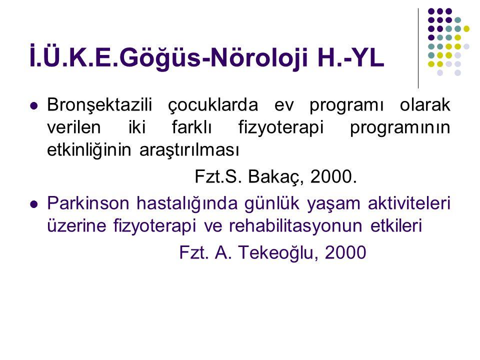 İ.Ü.K.E.Göğüs-Nöroloji H.-YL