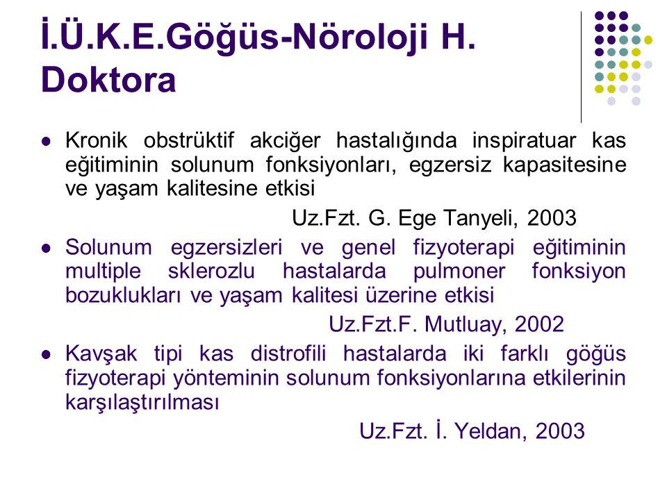 İ.Ü.K.E.Göğüs-Nöroloji H. Doktora