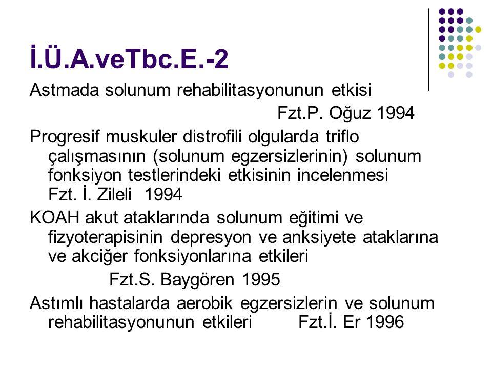 İ.Ü.A.veTbc.E.-2 Astmada solunum rehabilitasyonunun etkisi