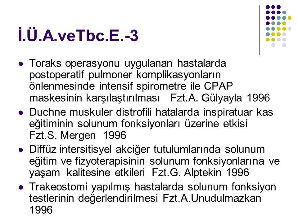 İ.Ü.A.veTbc.E.-3