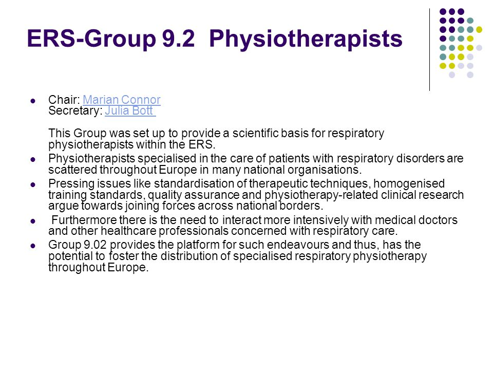 ERS-Group 9.2 Physiotherapists