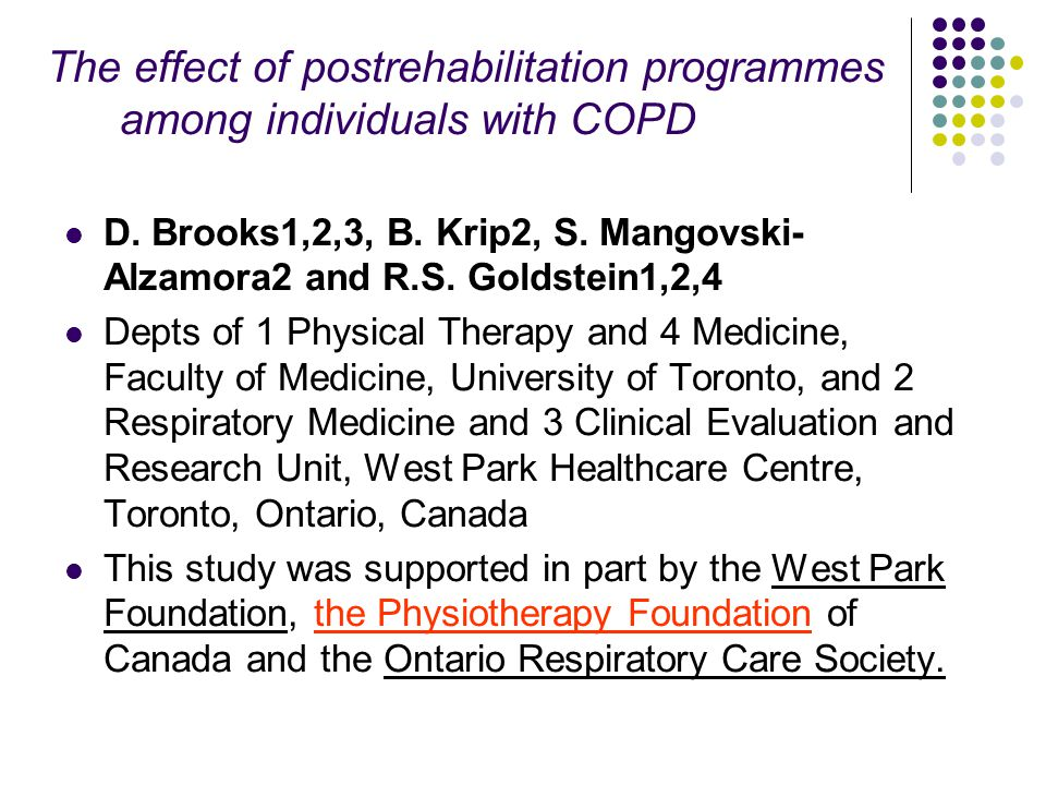 The effect of postrehabilitation programmes among individuals with COPD