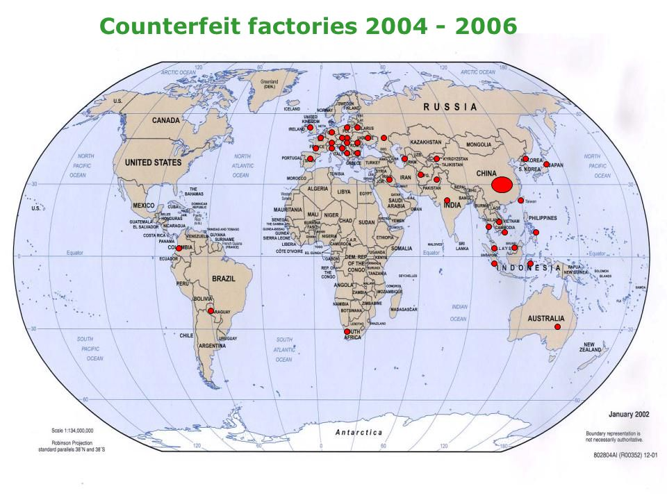 Counterfeit factories 2004 - 2006 Counterfeit factories