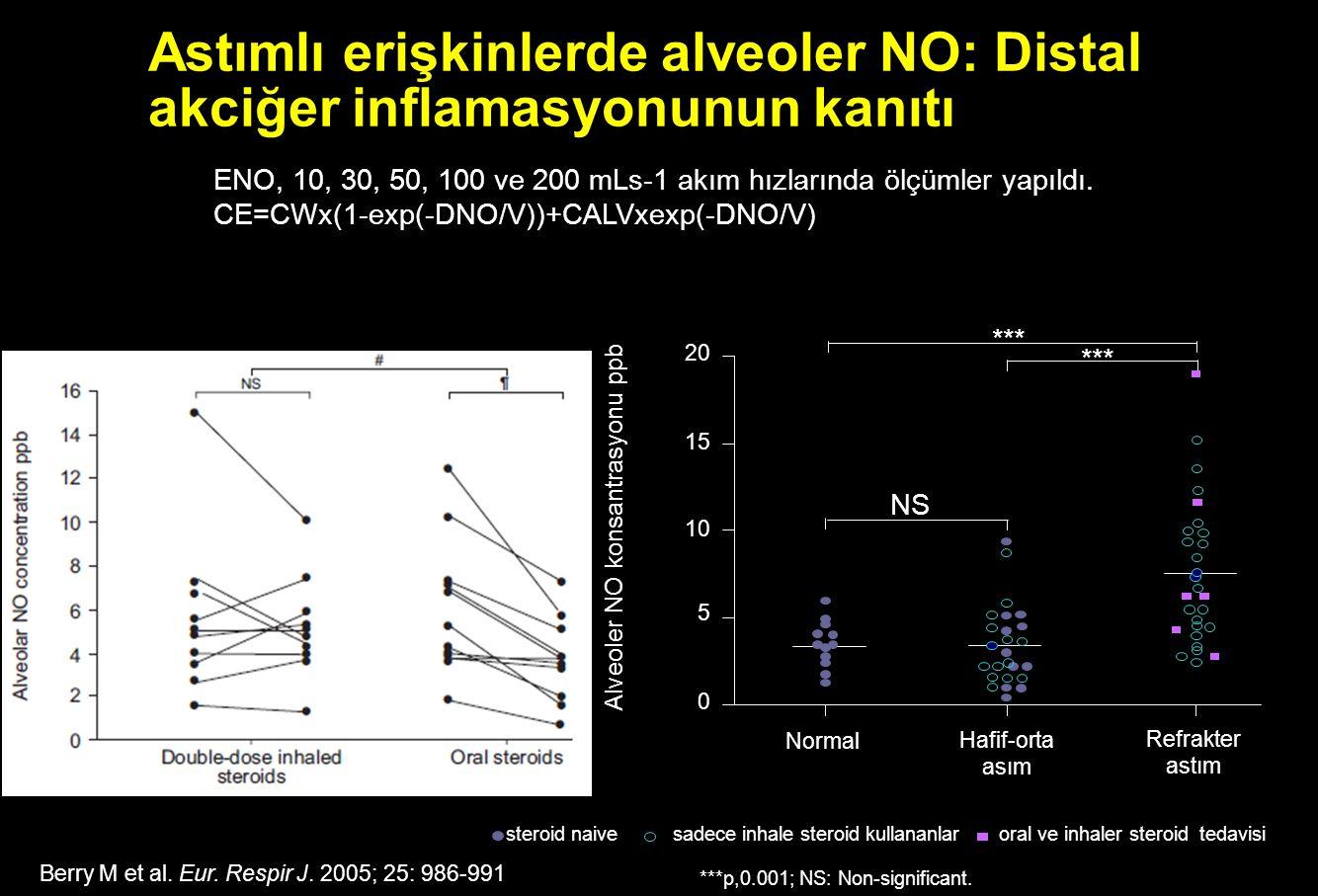 Astımlı erişkinlerde alveoler NO: Distal akciğer inflamasyonunun kanıtı