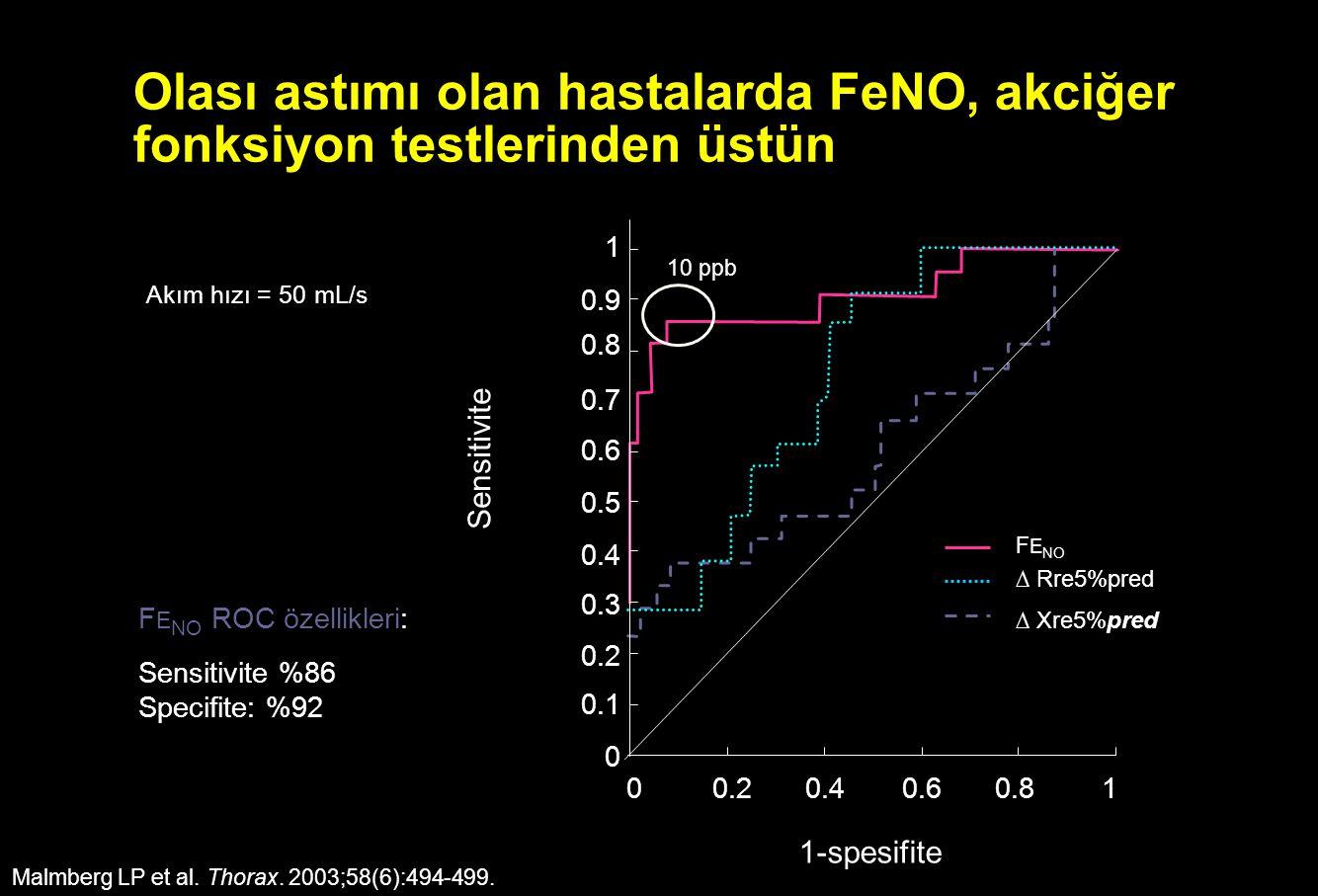 Olası astımı olan hastalarda FeNO, akciğer fonksiyon testlerinden üstün