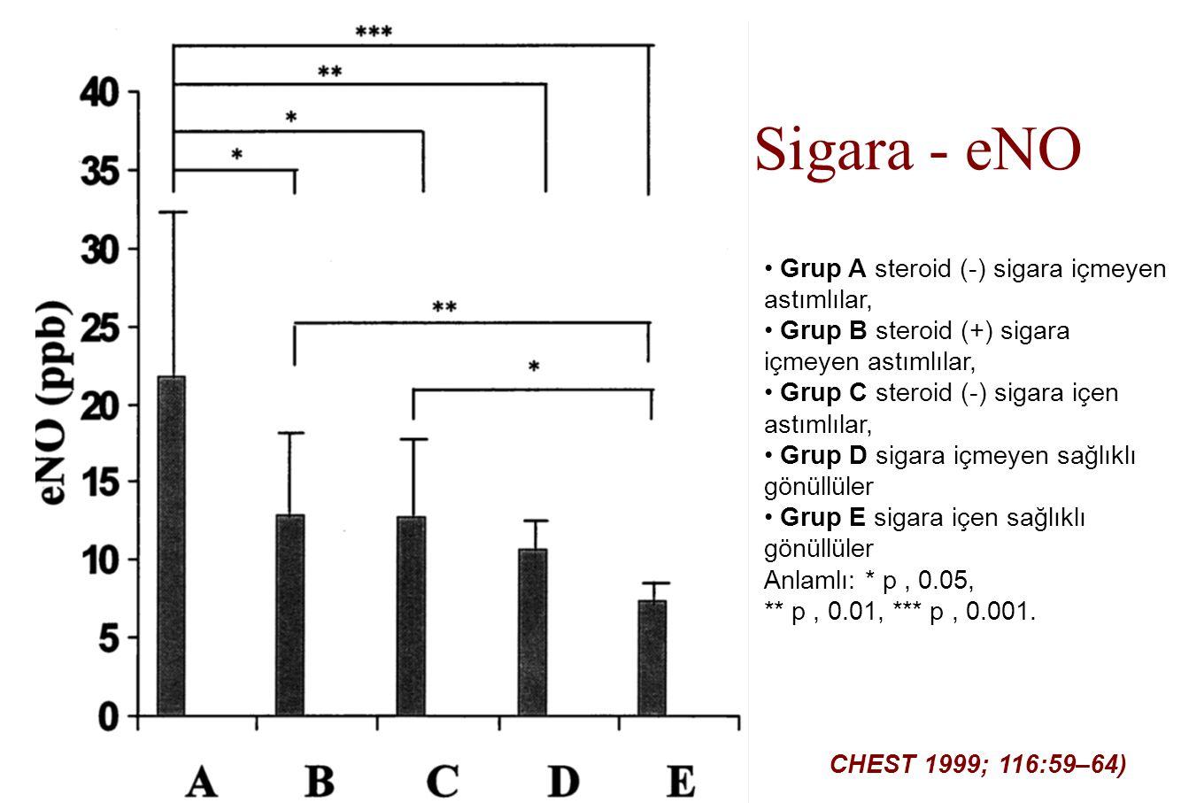 Sigara - eNO Grup A steroid (-) sigara içmeyen astımlılar,