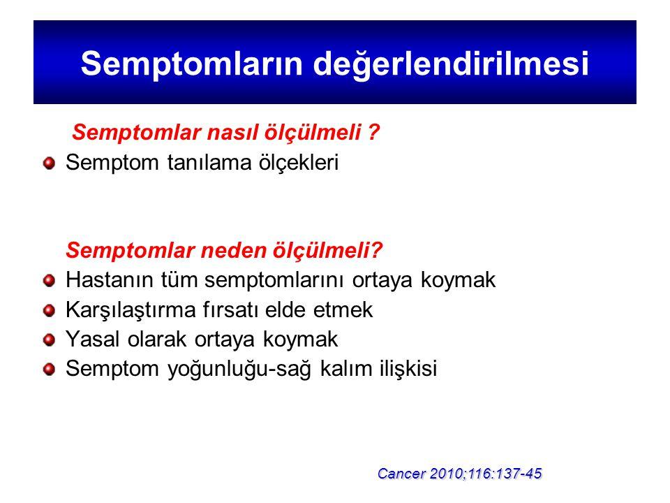 Semptomların değerlendirilmesi