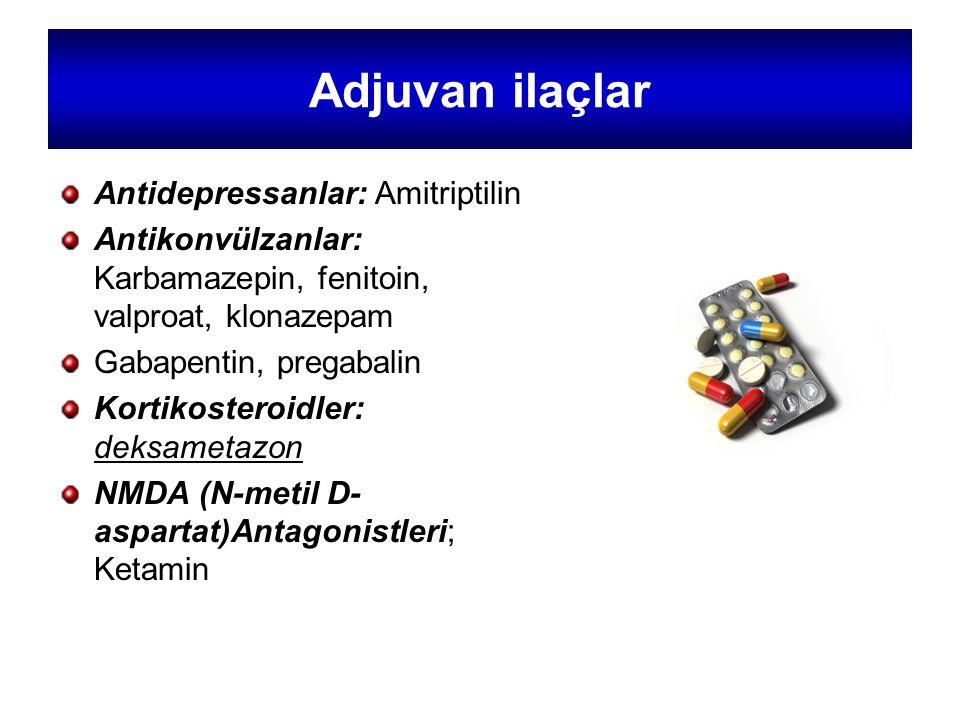 Adjuvan ilaçlar Antidepressanlar: Amitriptilin
