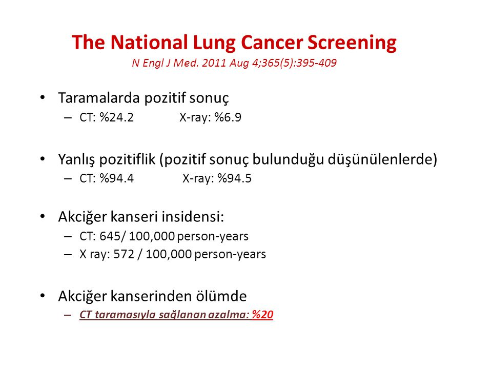 The National Lung Cancer Screening N Engl J Med