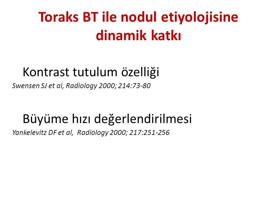 Toraks BT ile nodul etiyolojisine dinamik katkı