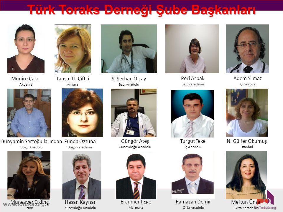 Türk Toraks Derneği Şube Başkanları