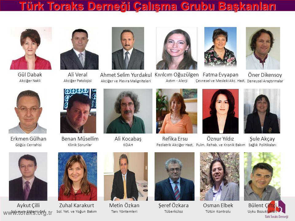 Türk Toraks Derneği Çalışma Grubu Başkanları