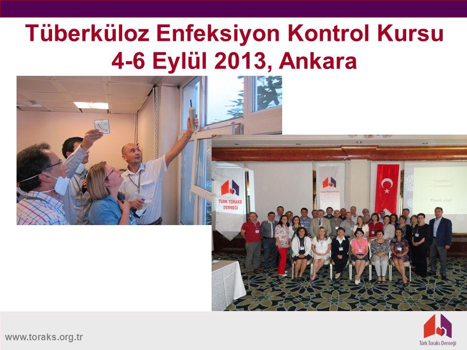 Tüberküloz Enfeksiyon Kontrol Kursu 4-6 Eylül 2013, Ankara