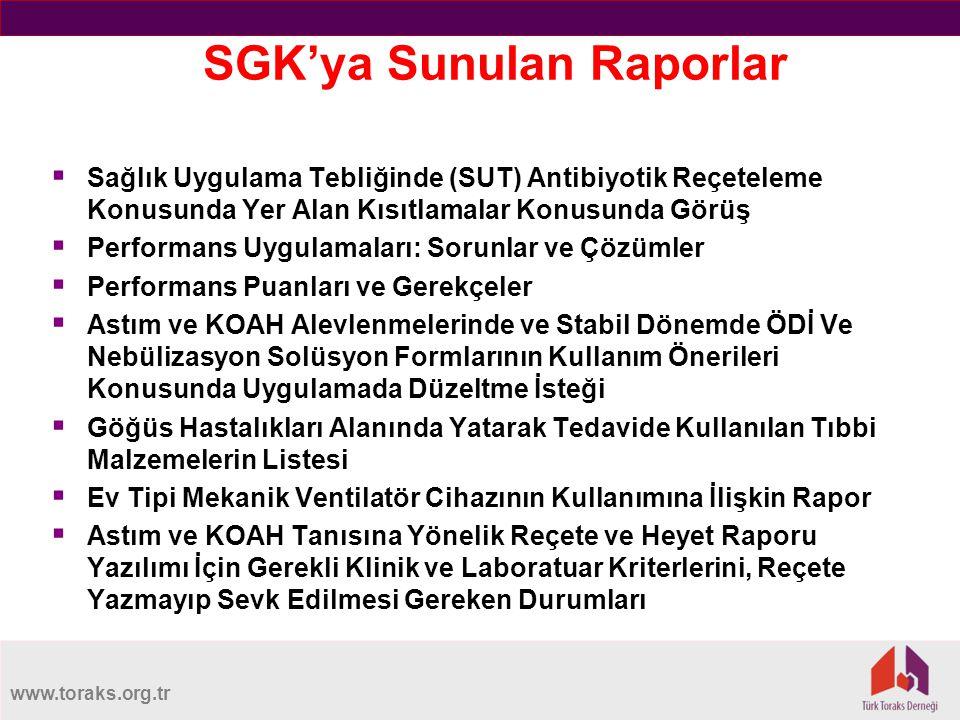 SGK'ya Sunulan Raporlar