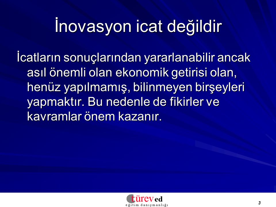 İnovasyon icat değildir